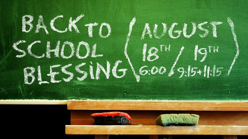 Back to School Blessing - Announcement Slide (Updated)